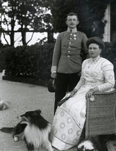 IV. Károly édesanyjával, Szász Mária Jozefinával
