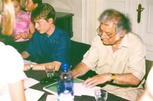 Csoóri Sándor (jobbra) és Véghelyi Balázs (balra) 2003