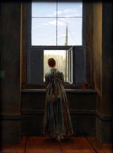 Nő az ablaknál (Friedrich felesége)