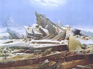 Jeges-tenger (A hajótörött reménye), 1823-1824