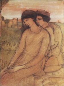 Gulácsy Lajos: Francesca da Rimini és Paolo Malatesta, 1903