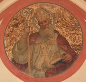 Szent Miklós mozaik, Nikolaikirche, Villach, Ausztria