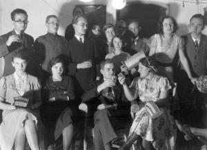 Szilveszteri mulatság, 1934. Fortepan/PRIVÁT FOTÓ ÉS FILM ARCHÍVUM-HÖFLER TIBOR GYŰJTEMÉNY