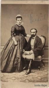 Madách Imre és felesége, Fráter Erzsébet (1860)
