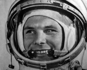 Jurij Alekszejevics Gagarin (oroszul: Юрий Алексеевич Гагарин; Klusino, 1934. március 9. – 1968. március 27.) szovjet űrhajós, az első ember a világűrben – a Vosztok–1 űrhajóval indult 1961. április 12-én, Bajkonurból.