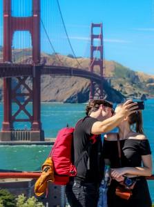 Egy csók és más semmi a Golden Gate alatt San Franciscoban – ja, és egy szelfi