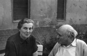 Füst Milán és felesége, Helfer Erzsébet (1950-es évek)