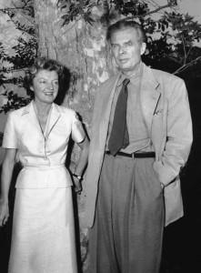 Laura Archera és Aldous Huxley (1956)