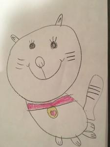 Cica Lakner Lola (5 éves) rajza