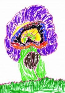 Mesefa, ötéves kisleány rajza