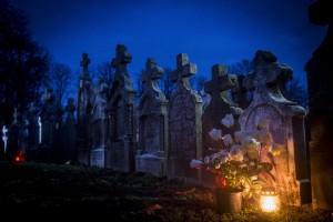 Gara, 2017. október 31. Sírkövek a Bács-Kiskun megyei Gara temetője német sírkertjében MTI Fotó: Ujvári Sándor