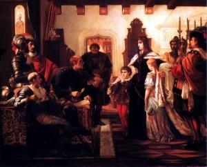 ZRÍNYI ILONA MUNKÁCS VÁRÁBAN (ZRÍNYI ILONA VIZSGÁLÓBÍRÁI ELŐTT) 1859 olaj, vászon (Magyar Nemzeti Galéria, Budapest)